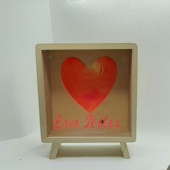 Gorgeous Love Notes Box,  Frame, Romantic Gift.