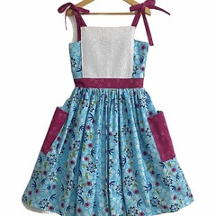 SIZE 6 Girls Tie Shoulder BRISTOL Dress