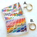 Let's Knit! or Let's Crochet! acrylic bag tags & steins