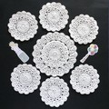 Set of White Doily and Six Coasters