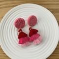 Pink Tassel Studs