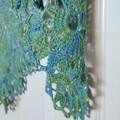 Water Lilies beaded shawl