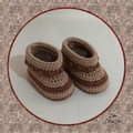 Crocheted Baby Hiker Booties