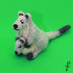 Eastern Grey Kangaroo - Handmade Needlefelted Wool Animal