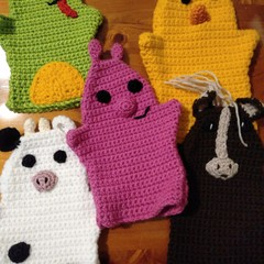 Set of 5 Hand Puppets