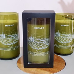 Merlot Reclaimed Wine Bottle Candles