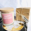 "Birthday Gift: ""Happy Birthday"" Soy Candle - select your own fragrance"