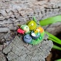 Polymer clay glowing garbage snail ornament  - snail mini figure