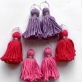 Tassel hoops - pink