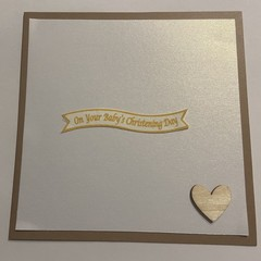 On your Baby's Christening Day   Card