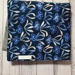 Minky Blanket - Blue flowers