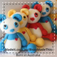 Soft Wool Toy Bear