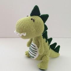 Dinosaur, crochet, toy, nursery, baby, gift