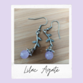 Malaysia 'Jade' Quartz Lilac Gemstones Earrings