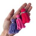 Tassel hoops - purple