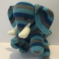 Elephant, crochet, toy, nursery, baby, gift