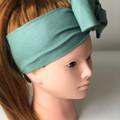 Light Green  Boho Wire Headband, Wire Headscarf, Twist Headband