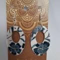 Handmade ceramic earrings