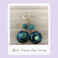 African Turquiose Drop Gemstone Earrings