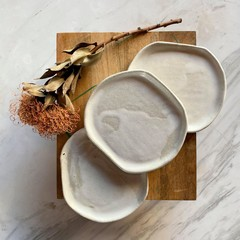 M&T Collection: Side/Small Plates Set in Gymea White