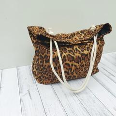 Animal print tote bag // Leopard Print bag