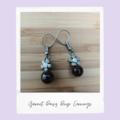 Garnet Daisy Gemstone Earrings