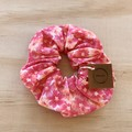 Floral pink scrunchie