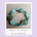 Aventurine, Mixed Gem-Tree Of Life Gemstone Stretch Bracelet
