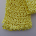 Yellow Crocheted Scarf in Cotton Blend Ready to Ship