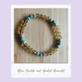 Blue Howlite Beaded Gemstone Stretch Bracelet