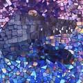 Mosaic bluestone garden paver
