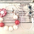 Bubblegum Bead Necklace and Hair Clips for Girls