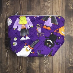 Black Cat & Boo: Zippered Pouches