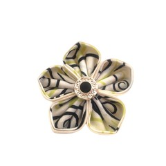 Funky Brooch for Ladies / Kanzashi Flower Pin