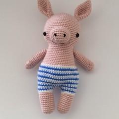 Pig, piggy, piglet, baby crochet, toy, nursery, gift, baby shower
