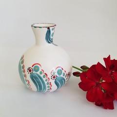 Handmade, Porcelain, Bottle/Vase form.