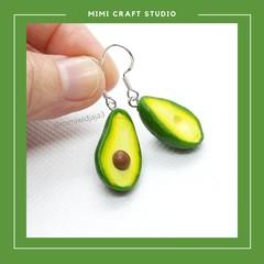 Avocado dangle earrings, cute gift for her