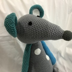 Mouse, crochet, Amigurumi, toy, baby, gift, nursery, baby shower