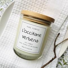 Highly Scented Soy Candle - L'Occitane Verbena | Lemon Fragrance