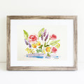 Floral Watercolour Painting - Original Artwork - Spring Flowers