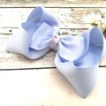 Hair Bow Clips in Blue, Mint and Pink / Large Bows for Girls