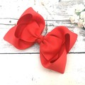 School Hair Bow - Red, Purple and Blue / Big Twisted Boutique Bows