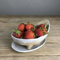 Handmade Textured  Ceramic Berry Bowl - Colander - Serving Bowl - Gift