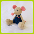 Manfred the Mouse Crochet Toy