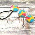 Hair Pin and Hair Tie Set for Ladies /Fabric Button Bobby Pins and Hair Band for
