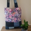 Recycled Tote Peony Patchwork