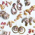 AUTUMN POSY - Arch Dainty Dangles - Statement Earrings