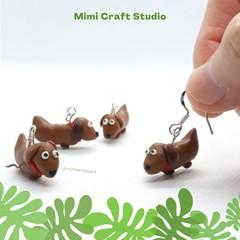 Sausage Dog Earrings, dog lover, Aussie cute earrings