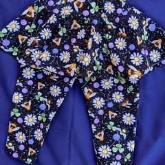 Floral Leggings with Skirt