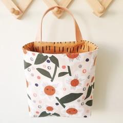 Storage solution, hanging fabric basket, flower bag
